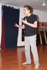 Alex teaching performing arts skills