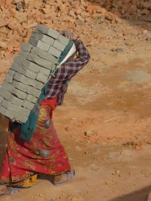 without education people are working carrying bricks for about 50c a day.