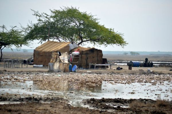 the area around the salt pan house where we run the art project
