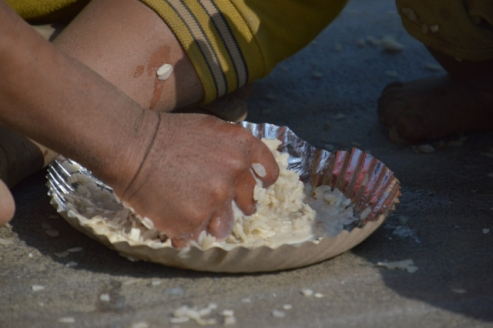 food is eaten with the hands in Nepal