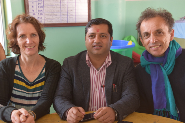 Krishna Sagar Sharma with Anne and Alex (jyoti) in Chitwan, Nepal