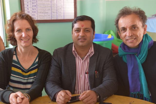 Krishna Sagar Sharma with Anne and Alex (jyoti) in Chitwan, Nepal